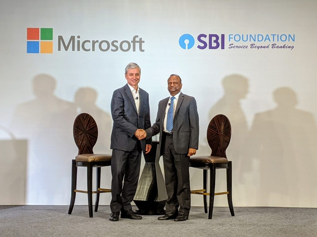 SBI Foundation New -Microsoft and SBI Foundation collaborate to create new opportunities for underserved youth in the BFSI industry
