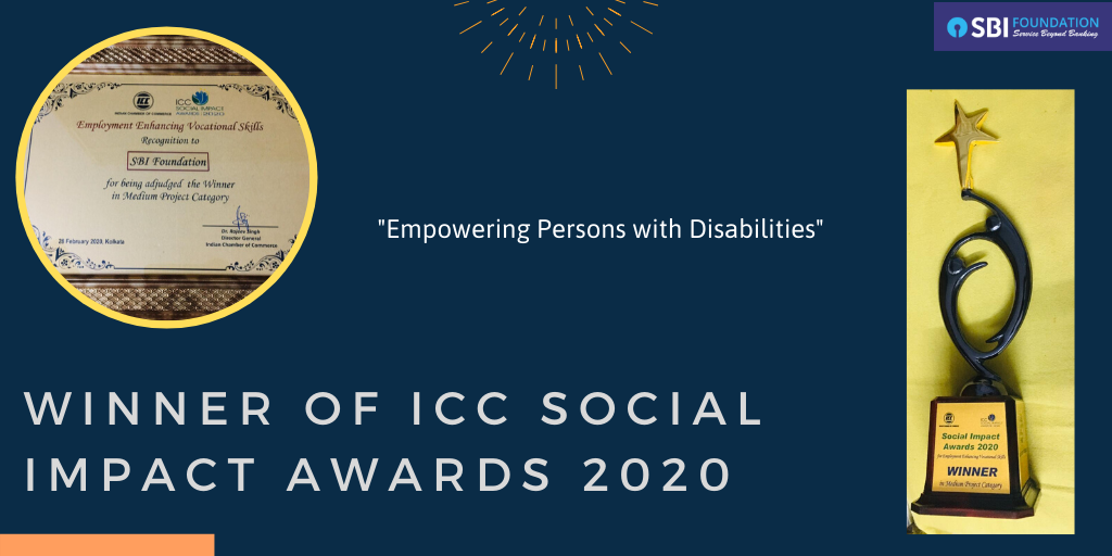 SBI Foundation New -SBI Foundation won the prestigious ICC Social Impact Award 2020.