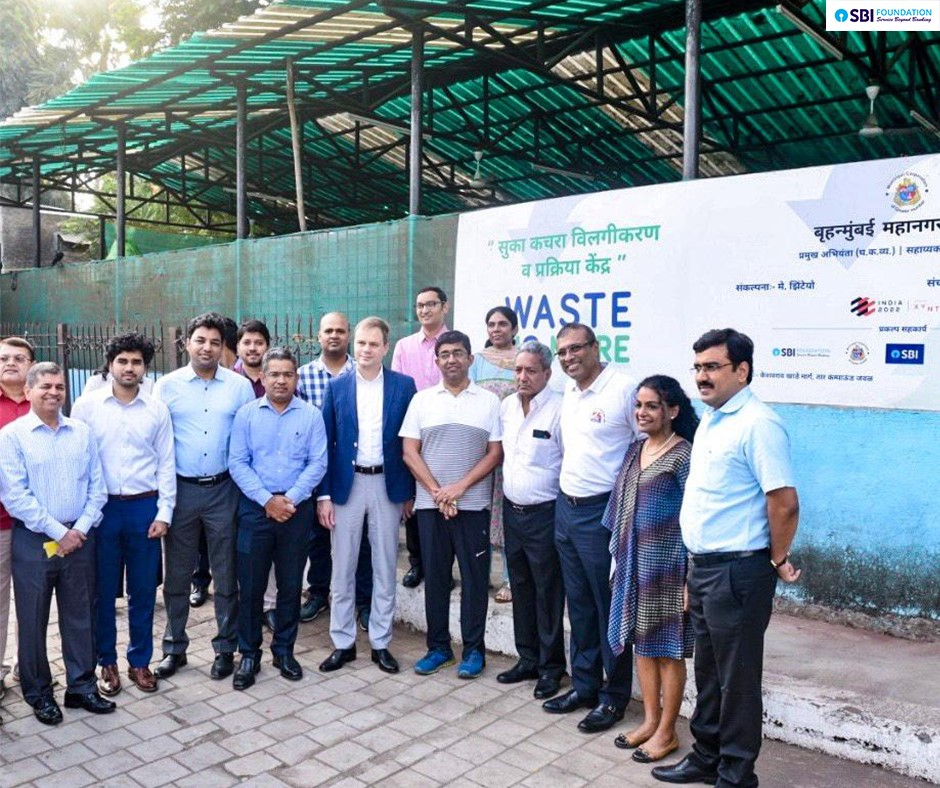 "SBI Foundation New -SBI Foundation inaugurated the ""Waste No More"", an end to end Dry Waste Management project."