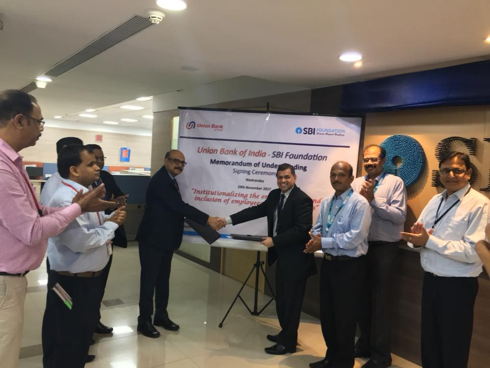 SBI Foundation New -SBI Foundation (SBIF) and Union Bank of India (UBI) have signed an MOU